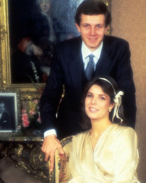 Stefano Casiraghi y Carolina de Mónaco.