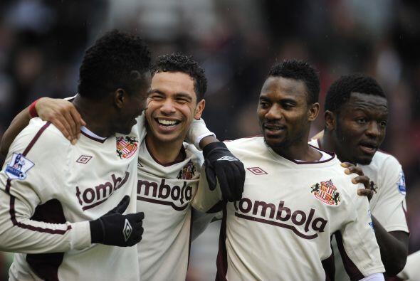 Asamoah Gyan había puesto en ventaja al Sunderland pero no fue suficiente.