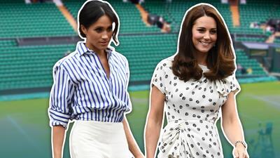 Por sus looks, punto para Kate en Wimbledon (Meghan síguelo intentando)