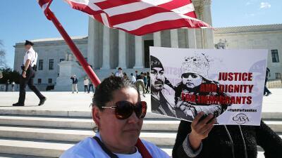 Imagen de archivo de una manifestación ante la Corte Suprema a favor de...