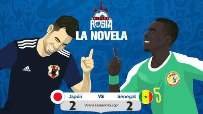 Empatan Japón y Senegal en emocionante duelo