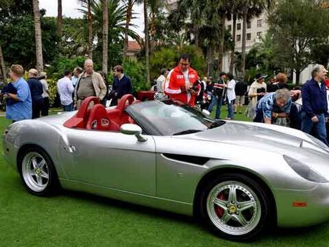 La versión descapotable del Ferrari 550 Barchetta Zagatto del 200...