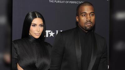 Kim Kardashian y Kanye West se lucen en sus Balmain