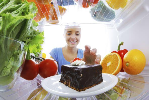 Si abres el refrigerador y la tentación es muy grande para ti pue...