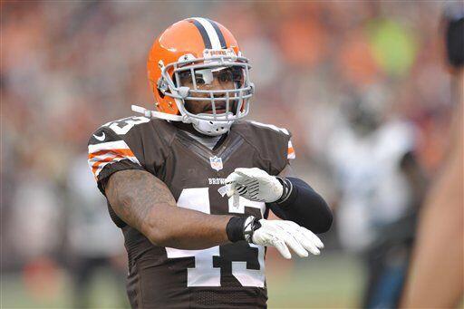 T.J. Ward, profundo de los Cleveland Browns (AP-NFL)