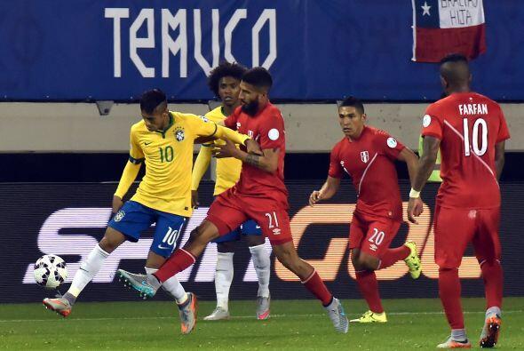 Ya que cuando se acababa el partido, Neymar logró arrastrar a toda la de...