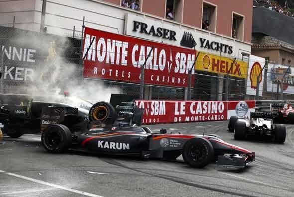 Los accidentes estuvieron a la orden del día en el Gran Premio de Mónaco...