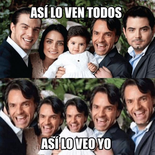 Eugenio Derbez y sus hijos meme