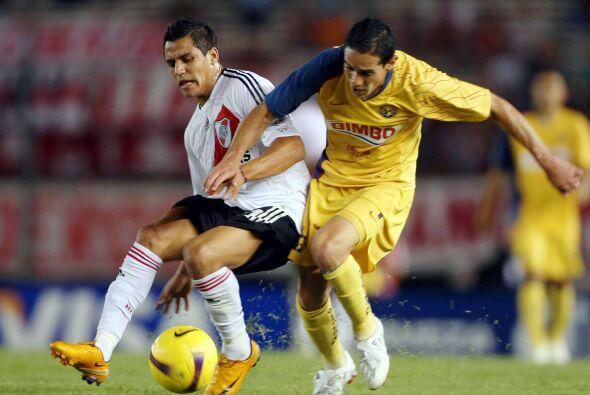 En 2008 otra vez América y River Plate se enfrentaron en Copa Libertador...