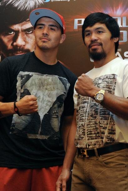 Manny Pacquiao y Brandon Ríos siguen con la gira mundial para promociona...