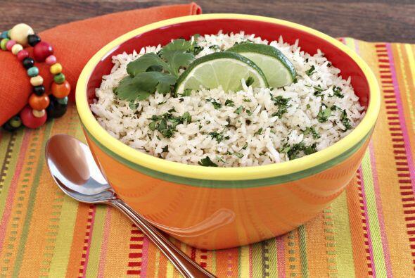10. Arroz con cilantro y lima. Es fácil de hacer, delicioso y perfecto p...
