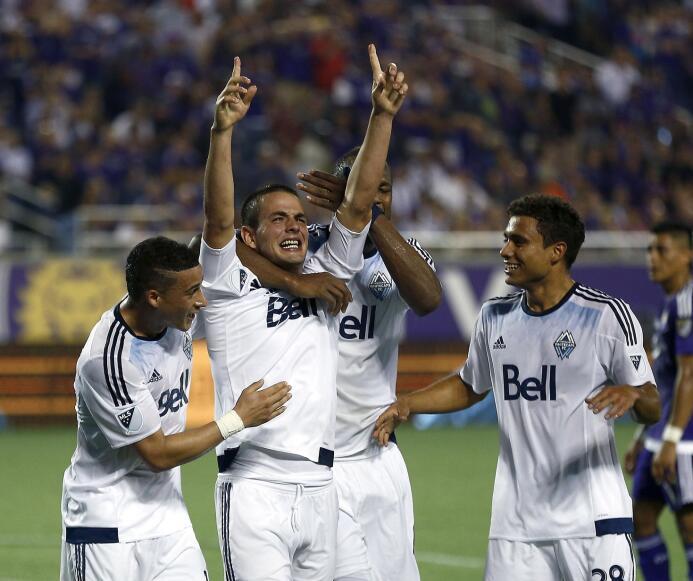 El uruguayo Octavio Rivero celebra el agónico gol ante Orlando City