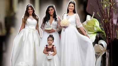 En  fotos: Francisca, Ana Patricia y Karla vestidas de novias reales, y con Giulietta de adorable pajecita
