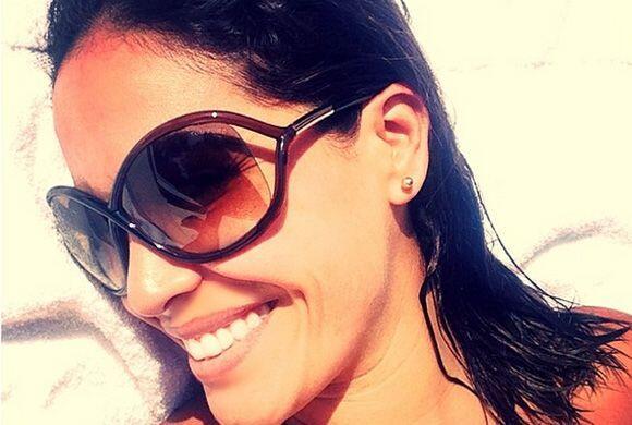 """""""A gozar la vida! #graciasDios #bendecida"""", dijo Karla. (Mayo 24, 2014)"""