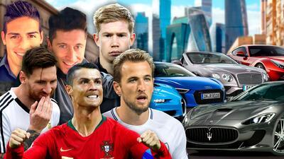 Los carros de los jugadores estrella del Mundial Rusia 2018