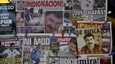 Un puesto de periódicos en Ciudad de México