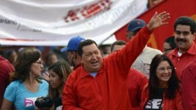 Hugo Chávez, presdiente de Venezuela.