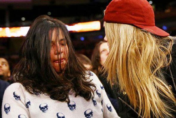 Así la captaron los paparazzi durante un encuentro de baloncesto.