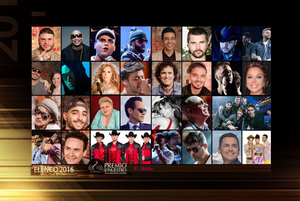Elenco Premio Lo Nuestro 2016