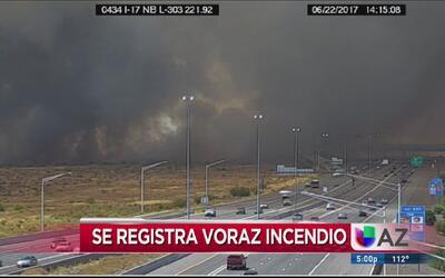 Alerta por voraz incendio al noroeste del valle