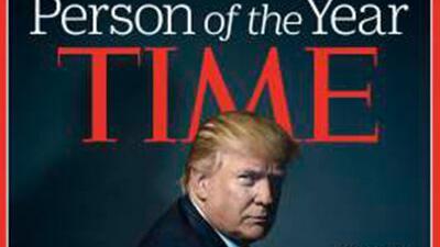 Portada de Time con Trumpo como personaje del año.