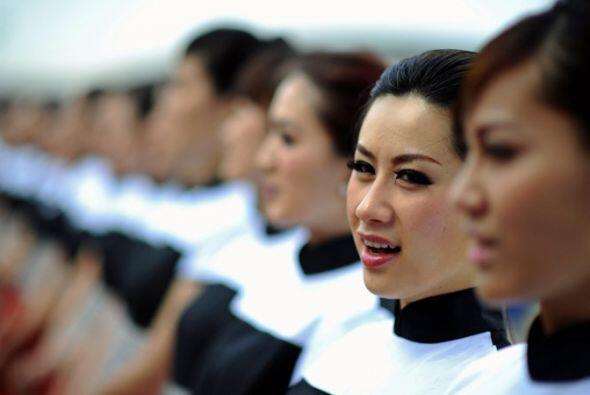 Una pequeña muesta de la belleza china en el Gran Premio de Fórmula 1.