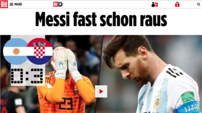 En fotos: revista de prensa sobre la actuación de Messi en el 0-3 de Argentina