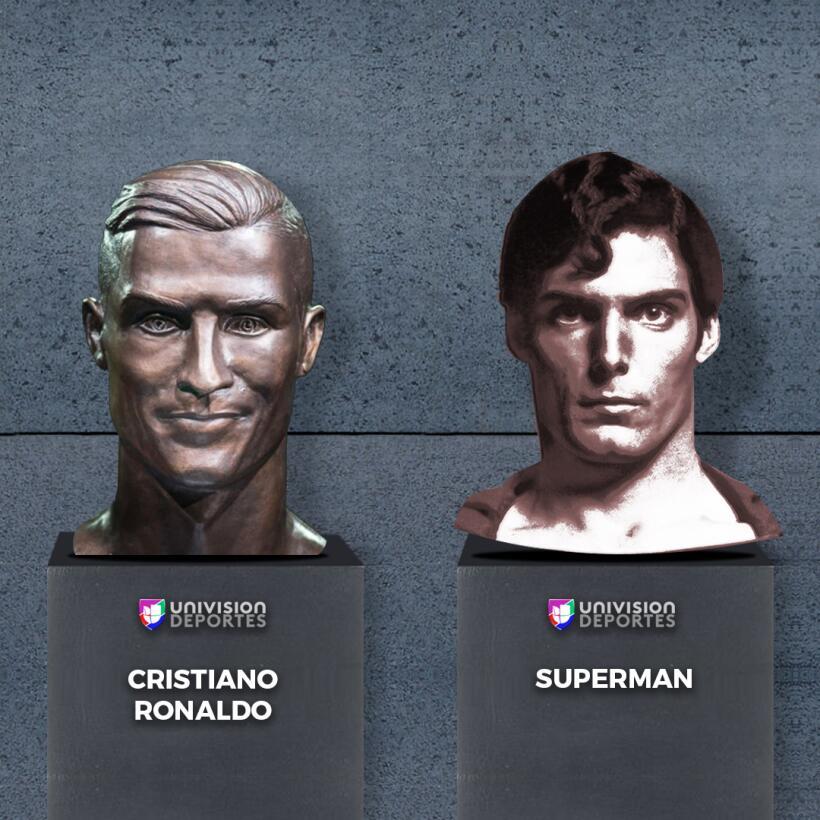 El nuevo busto de Cristiano no se salvó de los divertidos memes superman...