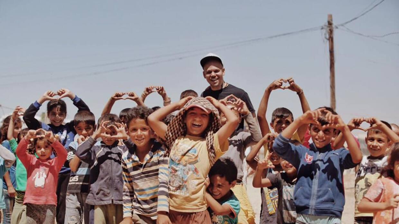 Residente en un campo de refugiados en la frontera de Líbano y Si...