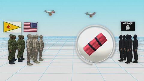 Animación: Cómo los drones de ISIS están atacando a tropas estadounidenses