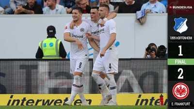 ¡Festejo sin mexicanos! Eintracht se impone al Hoffenheim sin Fabián ni Salcedo
