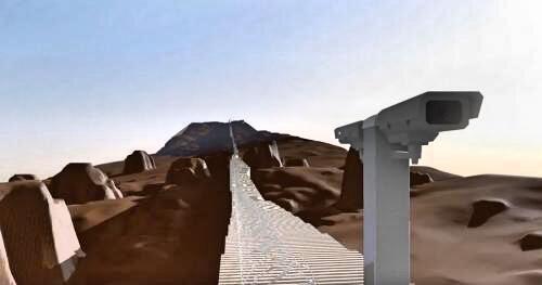 Muro tridimensional: El diseño de esta compañía tec...