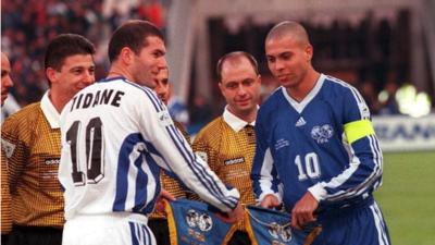 Los capitanes de Europa vs Resto del Mundo en 1997