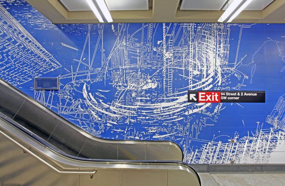 Arte en el metro de la segunda avenida