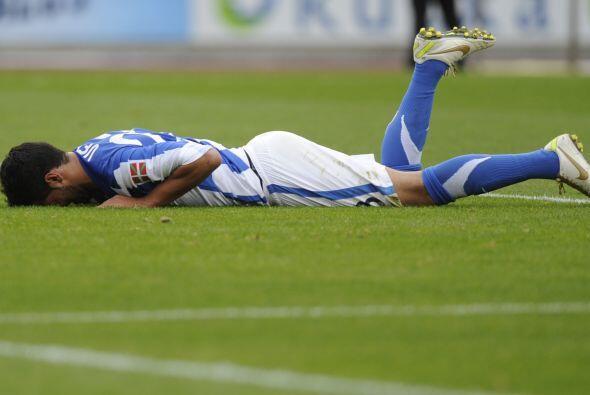 Carlos Vela, quien disputó todo el partido, no lograba sumar gol...
