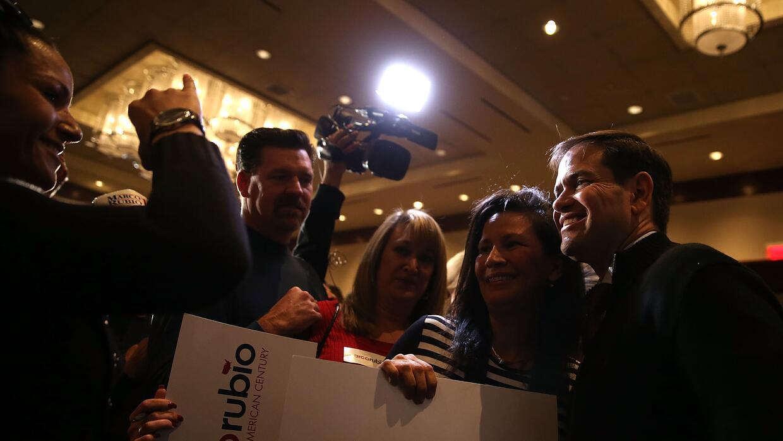Marco Rubio durante un evento de campaña en un casino de Las Vegas
