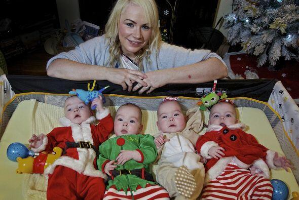 Ellos son Amelia, Mollie, Lucas y  Lily-Grace