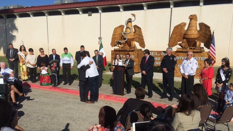 Ceremonia de la amistad en la frontera entre Del Rio, Texas, y Ciudad Ac...