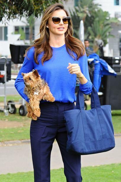 La modelo australiana siempre está posteando fotos junto a Frankie y sal...