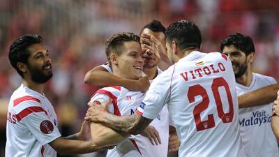 Kevin Gameiro hizo los dos goles del Sevilla.