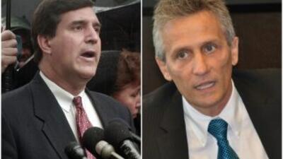 Luigi Boria y Joe Carollo, alcalde y administrador de la Ciudad de Doral...