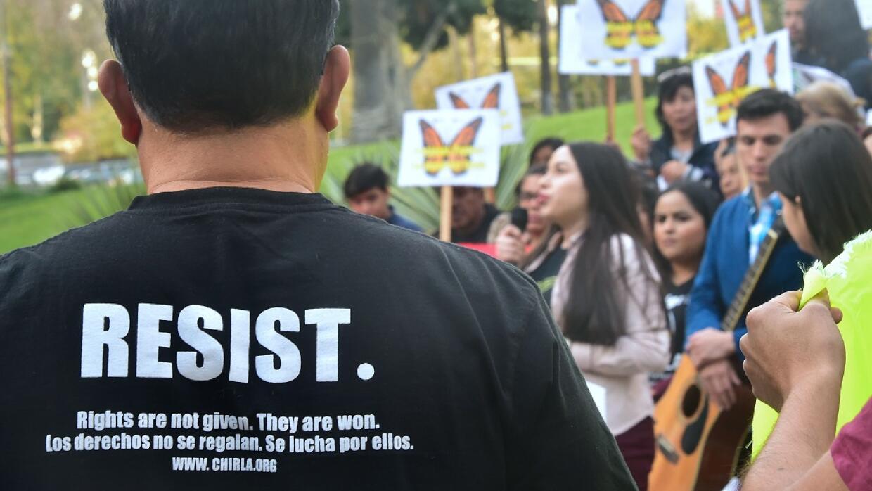 Manifestación a favor de los soñadores en Los Ángeles, California, el pa...