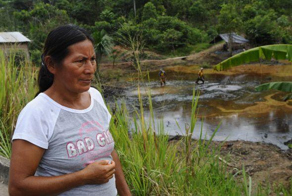 La ecuatoriana Catalina Aguinda ha vivido por 30 años las cosecuencias d...