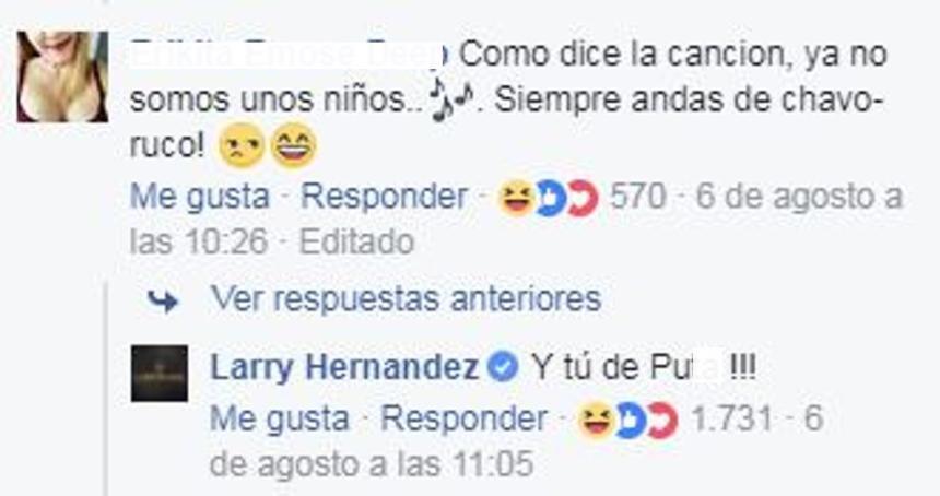 Andrea Legarreta Larry Hernández Gomita