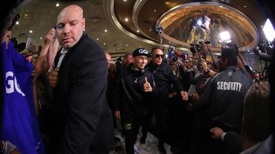 En fotos: al son de mariachi llegaron 'Canelo' Álvarez y 'GGG' Golovkin al MGM de Las Vegas