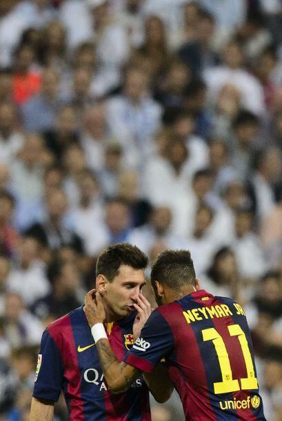 Neymar y messi planifican estrategias para revertir el partido, pero en...