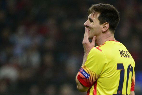 Leo Messi también sigue marcando. Sabe que se mide contra su sombra, fre...