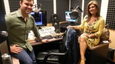 Alberto Sardiñas y Teresa Rodríguez, durante la grabación de Intimo.