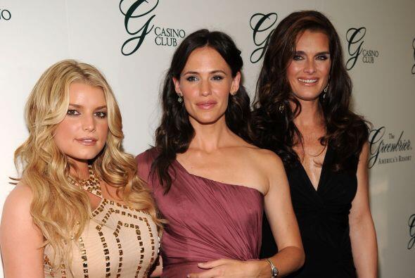 Junto a Jennifer Garner y Brooke Shields.