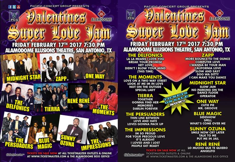 Valentine's Super Love Jam Concert Flyer